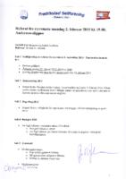 Styremøte 2. februar 2015