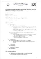 Styremøte 3. og 10. februar 2014